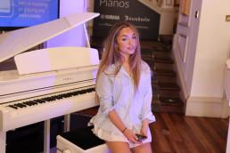 Amber T + piano Yamaha Music London