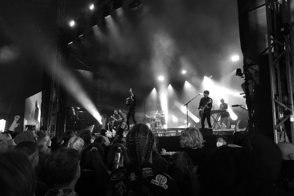 Creeper on stage at Download Pilot festival
