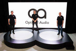 Dom-Harter-Tim-Carroll-and-Matt-Rowe optimal audio launch