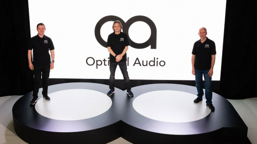 Dom-Harter-Tim-Carroll-and-Matt-Rowe optimal audio launch