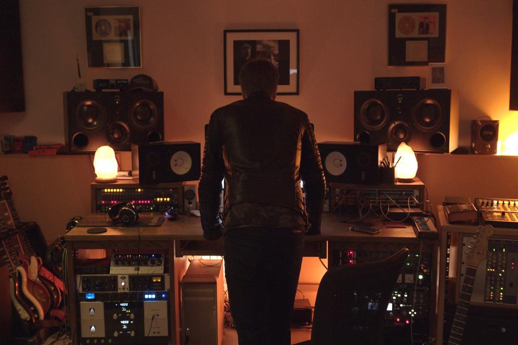 Duran Duran guitarist Dom Brown at his studio