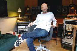 Dyre Gormsen sits in in Eastcote Studios
