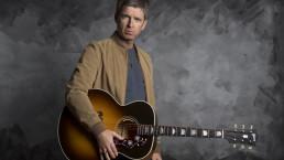 GIBSON Noel Gallagher guitar 17-2-21 by Jill Furmanovsky