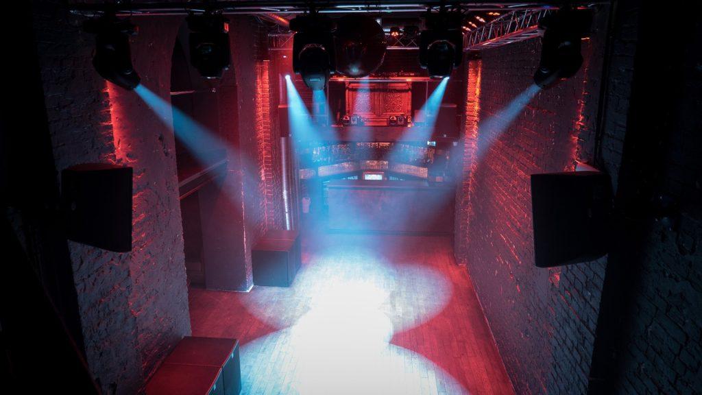 The cavernous dancefloor in the Karova Club in Poland