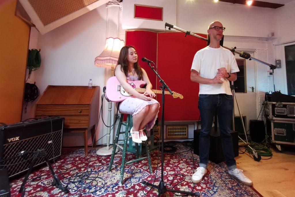 Martin Terefe and Henjila at Eastcote Studio