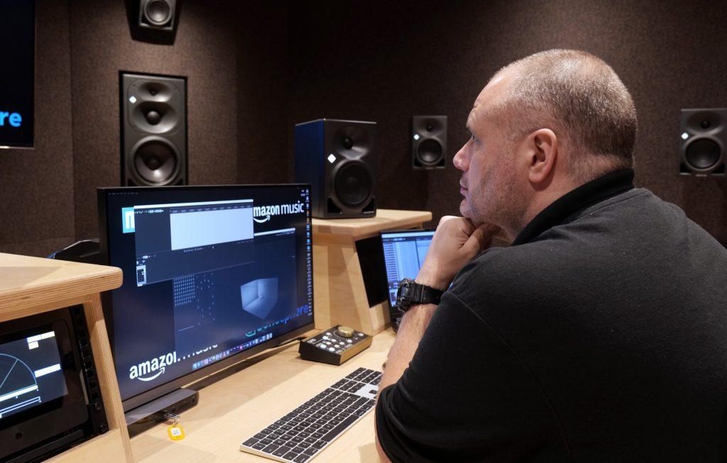 Phil Wright on the mixing desk at Metropolis Studio