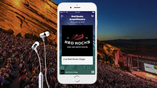 Red Rocks Mixhalo app