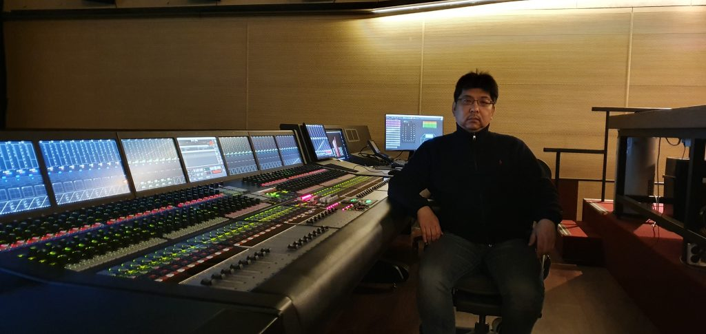 Sound Supervisor Ralph Tae-Young Choi at his console