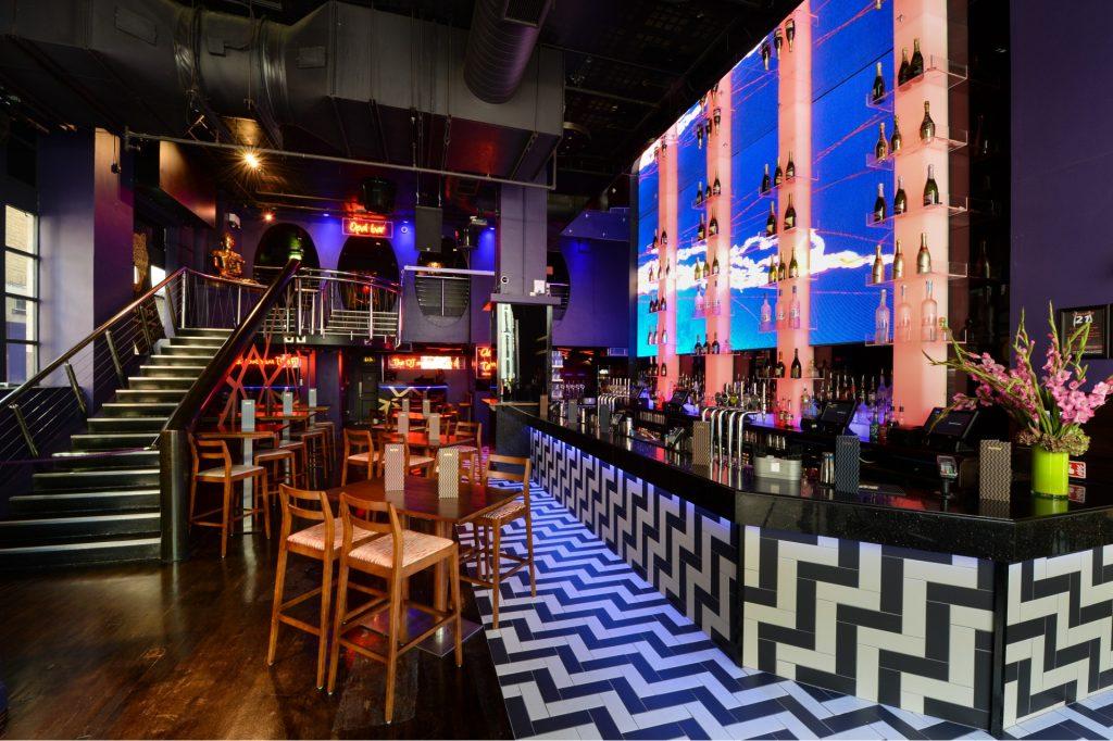 The bar area at Tiger Tiger nightclub London